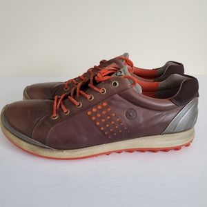 Ecco Biom hybrid Brown Natural Motion Golf Shoes
